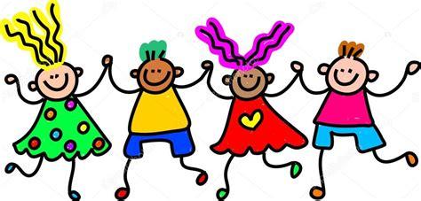 imagenes de niños alegres en caricatura ni 241 os felices caricaturas vector de stock 64295423