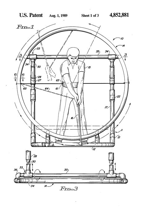 pvc golf swing trainer patent us4852881 golf training apparatus google patents