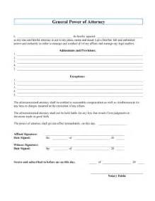 printable general power of attorney legal pleading template