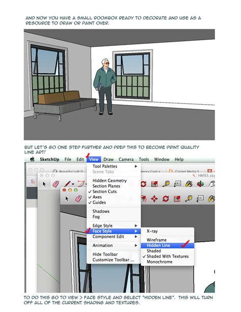 tutorial sketchup for beginner sketchup roombox tutorial for comic artists beginner