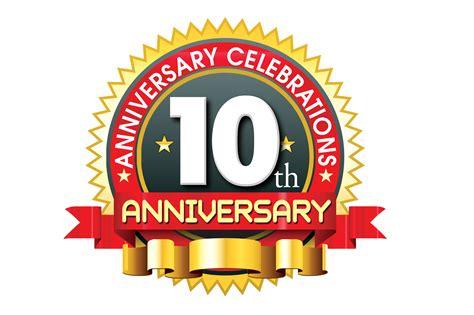 10 year anniversary 10th anniversary logo 10 year anniversary creative concept
