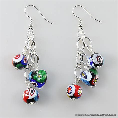 wholesale murano glass millefiori murano glass earrings wholesale murano glass