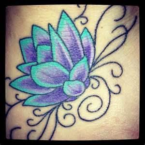 Teal Lotus Flower Lotus Flower Teal Purple Tattoos