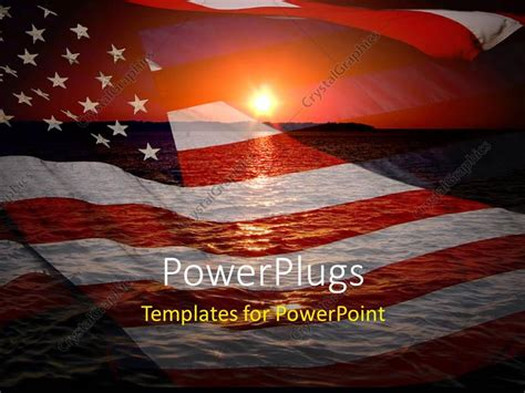 Powerpoint Template America Patriotic Concept With Sunrise Over Ocean 28148 Patriotic Powerpoint Template