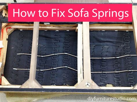 how to fix couch sag sofa spring repair tying arc springs upholstery resource