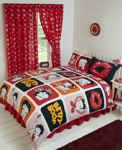 betty boop bedroom set betty boop reversible bedding duvet quilt cover set polka