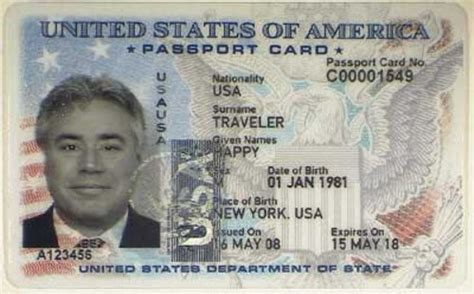 usa id card template types of passports for americans