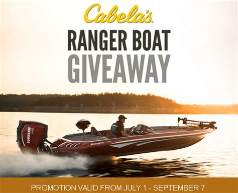 cabela s boat sweepstakes cabelas win one ranger 520z bass series comanche boat p