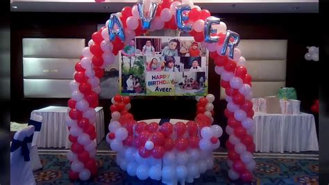 balloon decoration for birthday party at home white red balloon decoration for birthday party balloon