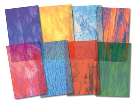 colored glass sheets stained glass paper 24 sheets 016392 details rainbow