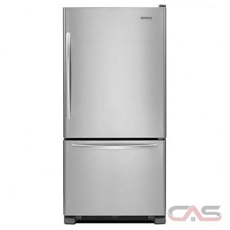 Kitchenaid Refrigerator Drawers by Kitchenaid Kbrs19kcms Bottom Mount Refrigerator 18 5 Cu