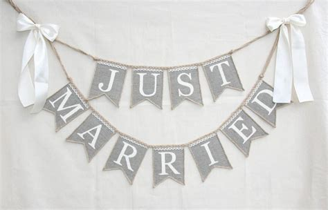 Wedding Banner by Just Married Wedding Banner Rustic Wedding Banner Just