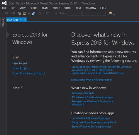 tutorial visual studio express 2013 visual studio 2013 express for windows ไว สำหร บเข ยน