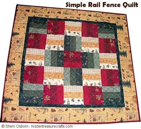 Fence Rail Quilt Pattern by Easy Quilt Treasure Crafts And Quilting