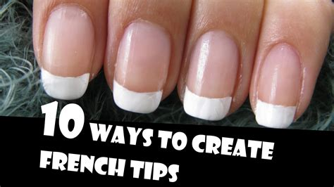 easy nail art tips at home 10 ways to create french tips manicures giveaway winners