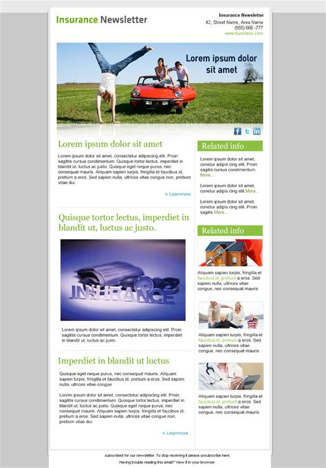 templates for email newsletters best free email newsletter design templates 187 latest