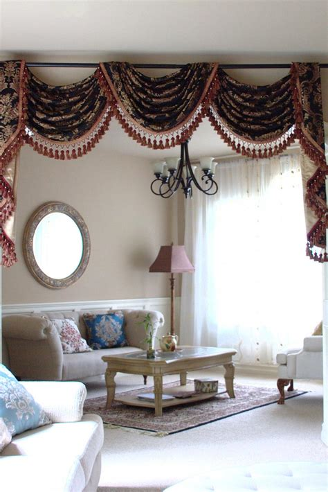 swags curtains style black swag valance curtains window treatments design ideas