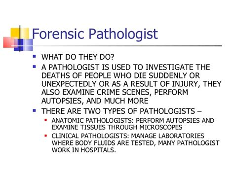 Forensic Pathologist Cover Letter by Description Of A Crime Investigator Crime Investigators Estimated Growth