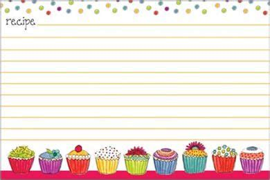 cupcake recipe card template 17 best images about bordes on scrapbook