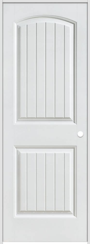 Masonite Interior Doors Canada Masonite 28 Inch X 80 Inch Lefthand Primed 2 Panel Plank Smooth Prehung Interior Door The Home