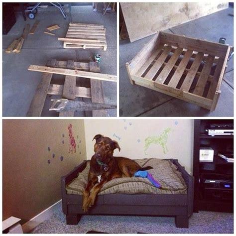 diy elevated dog bed build a raised pallet dog bed 99 pallets home pinterest