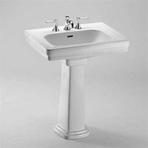 toto 22 1 4 quot x 27 1 2 quot pedestal bathroom sink cotton