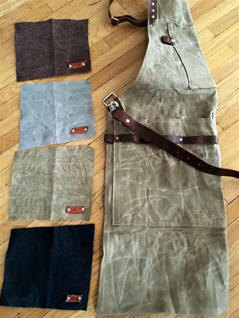 Appron Celemek Denim custom waxed canvas utility aprons can be ordered from oldsoulbags on ig and etsy denim