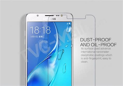 Samsung Galaxy J5 2016 Zineq Tempered Glass Anti Gores Screen Guard nillkin amazing h pro for samsung galaxy j5 2016 tempered glass screen nanometer anti