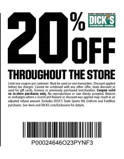 printable coupons dickssportinggoods in store 19 off dick s sporting goods promo code quot welcomeu quot get