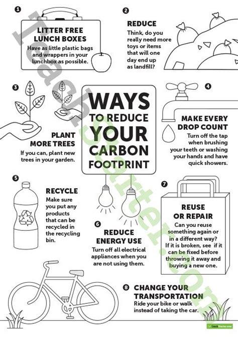 Carbon Footprint Worksheet Middle School