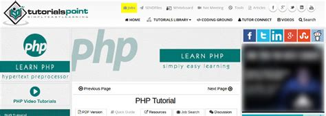 tutorialspoint php 9 reliable resources to learn php online better tech tips