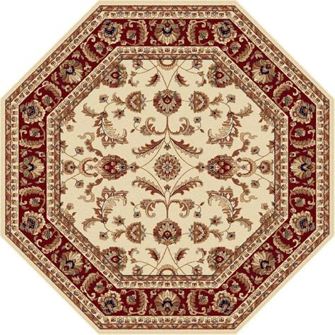octagonal rug tayse rugs sensation beige 7 ft 10 in octagon transitional area rug 4792 ivory 8 octagon