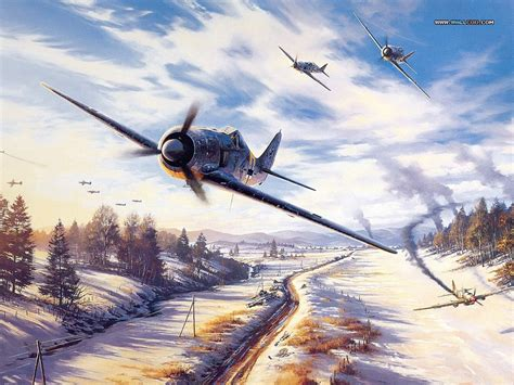 painting airplane air combat vol 03 aviation paintings of world war