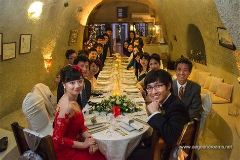 Wedding Blessing Santorini by Jianxiong Ziyu Santorini Wedding Ceremony And Guest