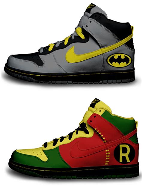 batman shoes custom made nike batman robin shoes along with several
