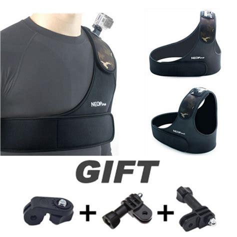 Terbatas Chest Belt Mount For Sport buy adjustable shoulder chest belt base mount for