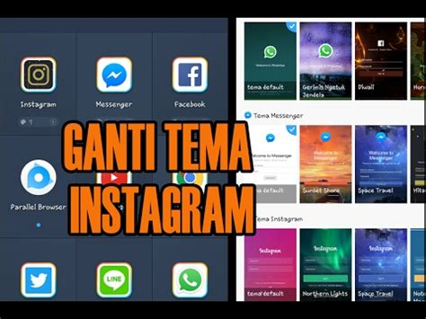 tutorial mengganti tema instagram cara mengganti tema di instagram gang youtube