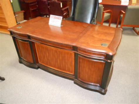 hoppers office furniture used wood executive desk 72