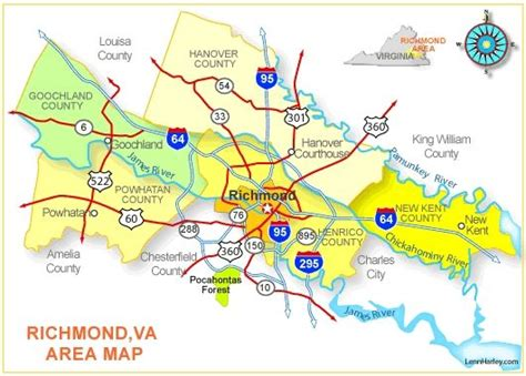 richmond virginia map high resolution map  central