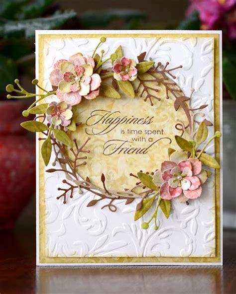 flower dies for card dies r us wreath
