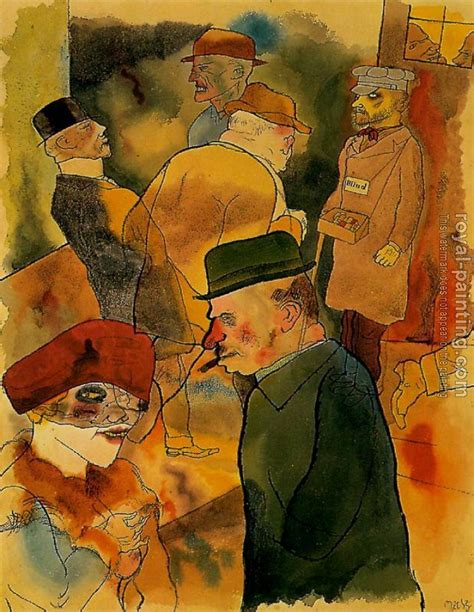 painting twilight twilight by george grosz painting reproduction