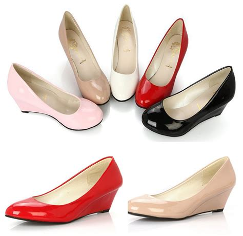 comfortable womens pumps free shipping fashion 2014 new women wedges shoes pointed