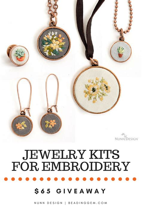 Giveaway Jewelry - nunn design s 65 giveaway jewelry kits for embroidery the beading gem s journal