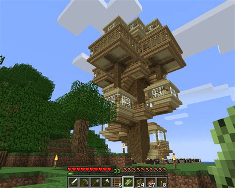 minecraft tree house minecraft treehouse minecraft maybe pinterest