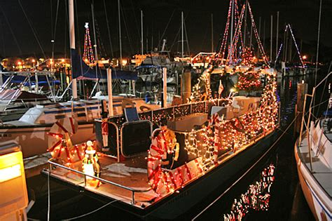 boat light up fort lauderdal christmas business catamarans festive pontoons and catamarans marine