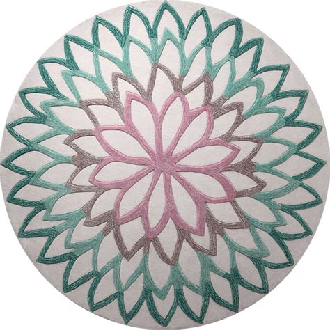 Tapis Floral by Tapis Rond Floral Lotus Flower Esprit Home