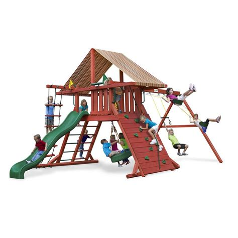 swing for playset shop gorilla playsets wooden sun climber playset with 3