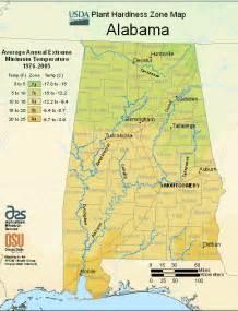 us time zone map alabama alabama zone map of usda planting zones