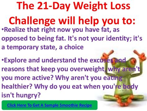 a weight loss challenge the 21 day weight loss challenge