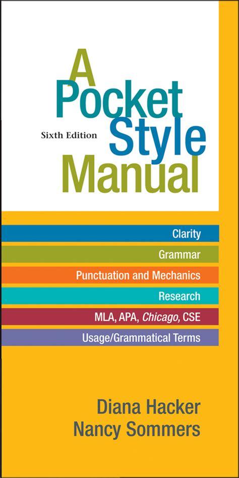 a pocket style manual macmillan higher education a pocket style manual sixth